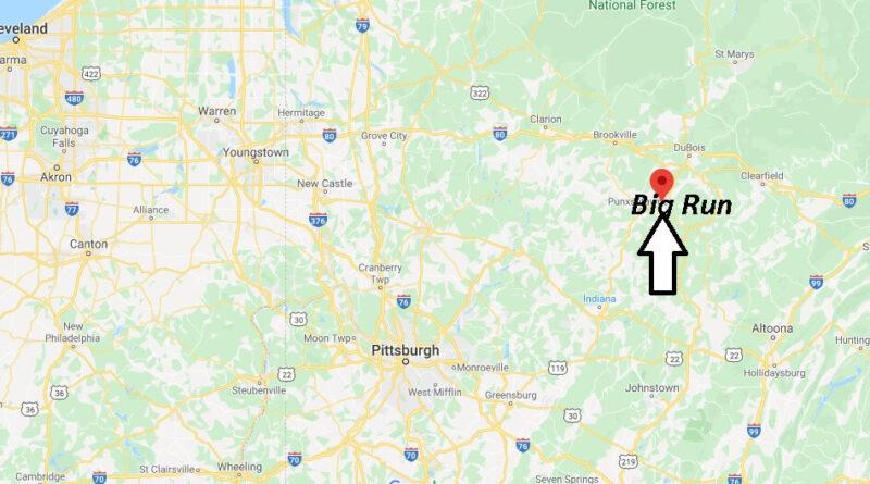 Where is Big Run Pennsylvania? Where is zip code 15715