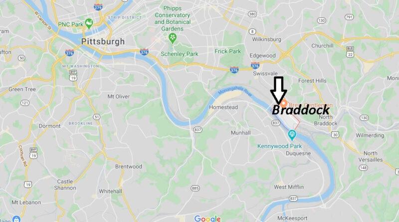 Where is Braddock Pennsylvania? Where is zip code 15104