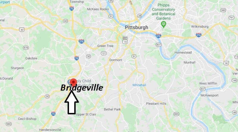 Where is Bridgeville Pennsylvania? Where is zip code 15017