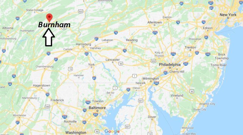 Where is Burnham Pennsylvania? Where is zip code 17009