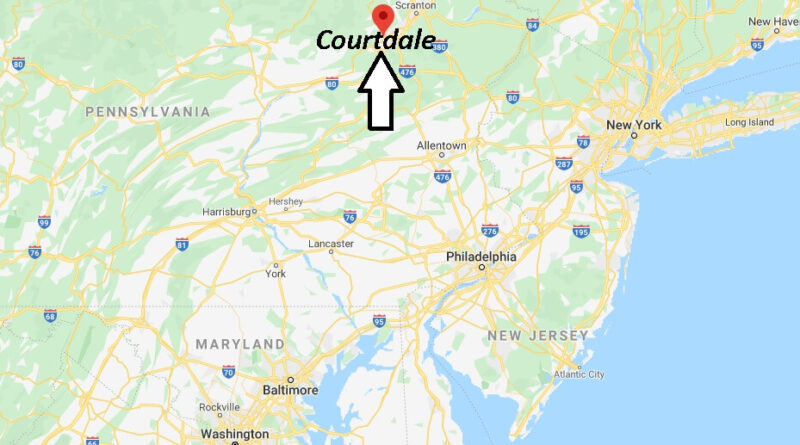Where is Courtdale Pennsylvania? Zip code 18704