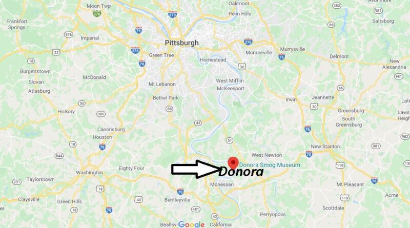 Where is Donora Pennsylvania? Zip code 15033