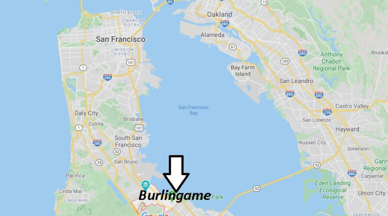 Where is Burlingame California? What County is Burlingame in