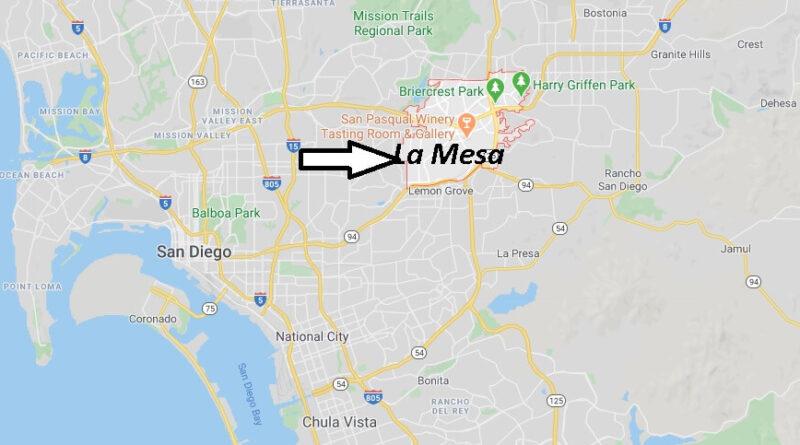 Where is La Mesa California? What County is La Mesa in