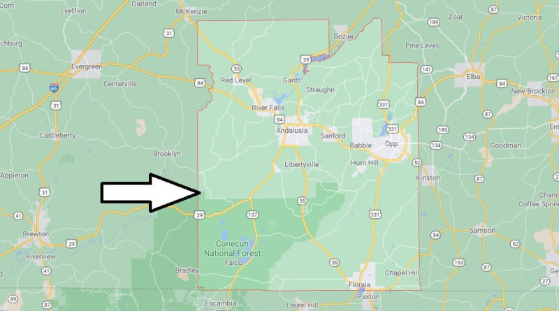 Where is Covington County Located
