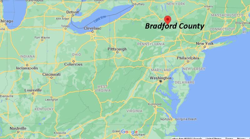 Where is Bradford County Pennsylvania