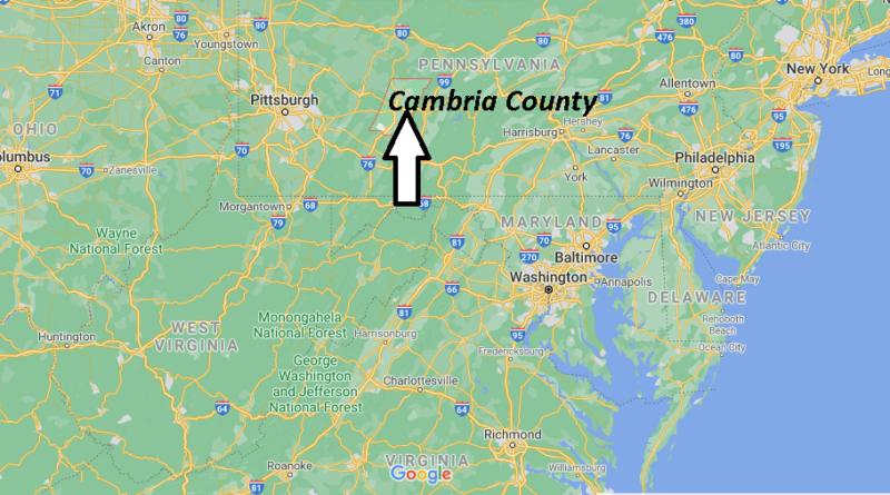 Where is Cambria County Pennsylvania