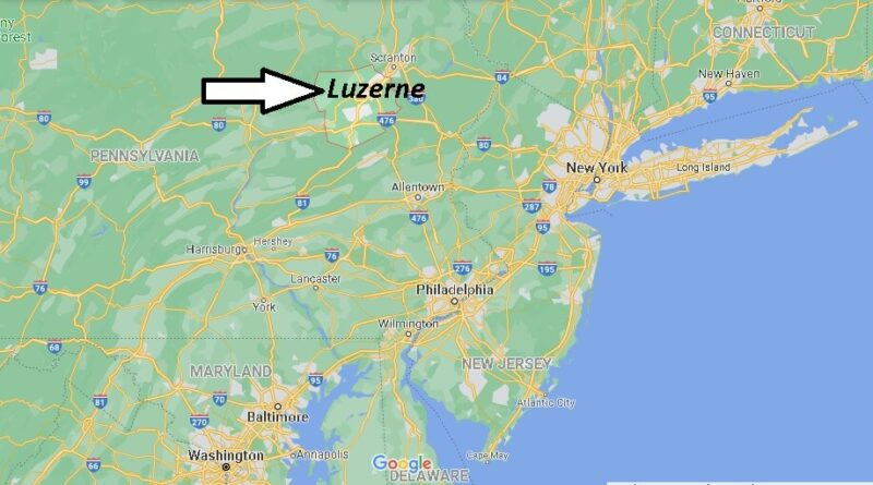 Where is Luzerne County Pennsylvania