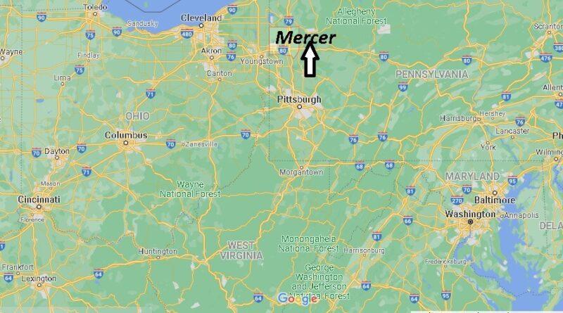 Where is Mercer County Pennsylvania