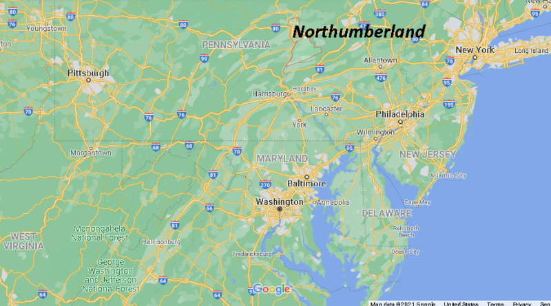 Where is Northumberland County Pennsylvania